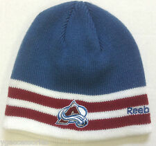 NHL Colorado Avalanche Reebok Cuffless Winter Knit Hat Cap Beanie NEW!