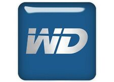 "Western Digital WD Blue 1""x1"" Chrome Effect Domed Case Badge / Sticker Logo"