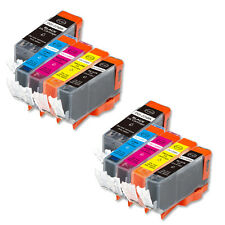 10 PK Printer Ink Set + chip fits Canon PGI-220 CLI-221 iP4700 MP560 MP620 MX870