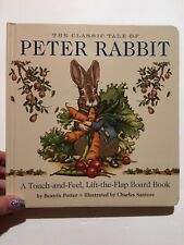 Peter Rabbit Touch & Feel Board Book by Beatrix Potter Hardcover Book Free Shipp