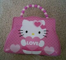 HELLO KITTY hinged  tin box with clasp and beaded handle