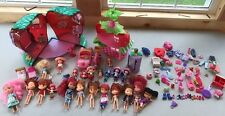 Strawberry Shortcake Lot Berry House 23 Dolls Car Scooter Bed Mirror (72+ Pieces