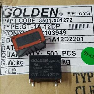 1Pc GOLDEN GT-1A-12DP 12VDC Power Relay 25A 250VAC 4Pin New