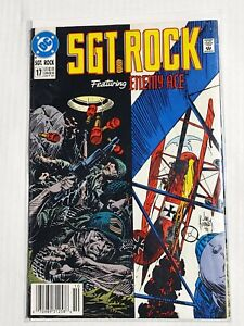 SGT ROCK #17 (DC Comics 1991) ENEMY ACE (FN+) RARE Direct editon. Newstand