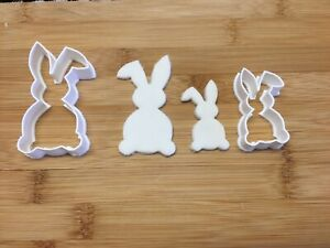 Rabbit Bunny Easter Shape Large And Small Cookie Cutter Biscuit Pastry Fondant