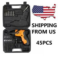 45 in 1 Power Tool Cordless Electric Screwdriver Wireless Rechargeable Drill Kit