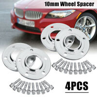 4pcs 10mm Hubcentric Wheel Spacers 5x120mm PCD 72.6 CB For BMW E46 E60 E90