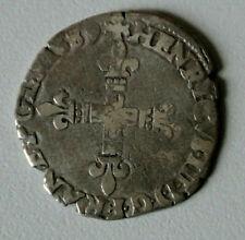 HENRI III ROI FRANCE /POLOGNE 1/8 ECU 1589 L = bayonne