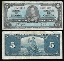 Canada - Old 5 Dollar Note - 1937 - Coyne/Towers - FINE