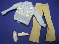 Ken FASHIONISTA DOLL Fashion/TENNIS SHOES BABY BLUE SWEATER/KHAKI PANTS OUTFIT