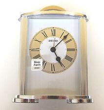 Seiko Silver Tone Alarm Clock QHE092SLH