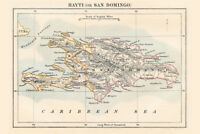 Haiti and Dominican Republic 1883 Historical Antique Style Map Poster 18x12 inch