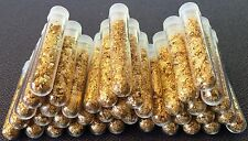 100 Large 3ml Vials.. Filled Full of Gold Leaf Flakes .. Lowest price online !!