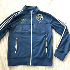 Seattle Sounders Adidas Mens Small Jacket Blue Green Trefoil MLS Soccer