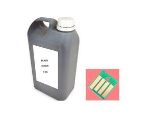 BULK TONER REFILL KONICA MINOLTA Bizhub 4700P TNP34 TNP37 A63T01W (1KG) + 1 CHIP