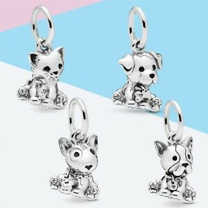 Playful Pets Silver European Charm DIY For 925 Bracelet Necklace Free Gift Bag