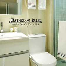 Bathroom Rules Wash Brush Floss Flush Words Shower Wall Stickers Home Art Decals