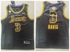 Men's Los Angeles Lakers Anthony Davis #3 black jersey