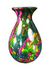 """BUTW  7 Color Serpentine Jade Vase Urn 13"""" Sculpture Consilio Decor 3669K ab"""
