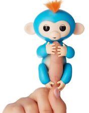 6 funciones Bebé Mono Mascota Interactiva dedo Niños Juguete electrónico brótolas Azul