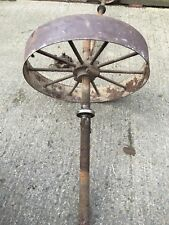 Antique vintage Victorian cast iron drive shaft , wheels and bearings