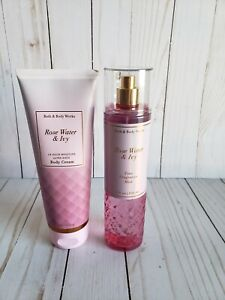 Bath and Body works Rose water & ivy body cream and fine fragrance mist