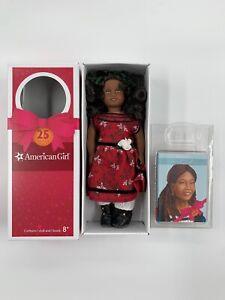 American Girl Mini Doll 25th Anniversary-Cecile 1853 Christmas Dress, Box, Book