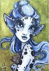 "ACEO Original Fantasy Sketch FoGG art atc card 2.5 x 3.5 Drawloween ""Poisonous"""