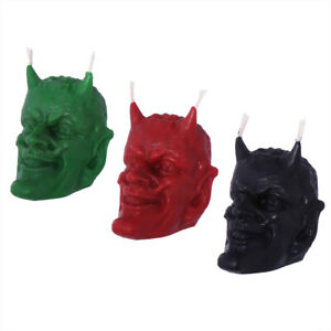 beeswax devil candle organic red green or black Gothic ritual candle NEW