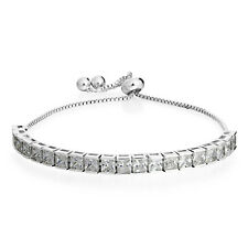 Cubic Zircon Sliver Tennis Bracelets Adjustable Party Charm Bracelets for Women