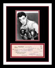 ROCKY MARCIANO *SIGNED BANK CHECK* REPLICA PHOTO DISPLAY *READY 2 FRAME*
