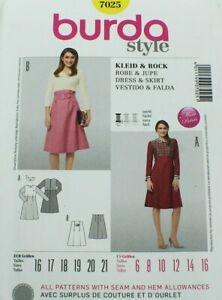 Burda Style Pattern 7025 Uncut Miss Petite Semi-Fitted Dress And Skirt  NOS