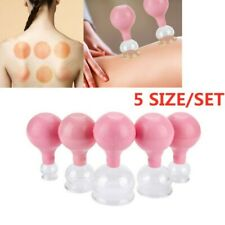 Anti Cellulite Massage Vacuum Suction Therapy Body Facial Cups Cupping 5 Size