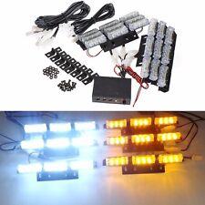 12V LED 6 barras de rejilla de emergencia Intermitente Blanco Coche Ámbar recuperación luz estroboscópica U