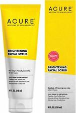 Acure Brightening Facial Scrub 100% Vegan 4oz for A Brighter Appearance | Sea...