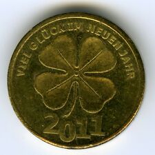 # ☆ GERMANY ☆ NEW YEAR 2011 TOKEN ☆ GOOD LUCK, CLOVER • WISHING HAPPINESS ☆C2485