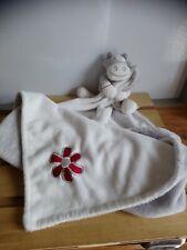 Doudou ma première couverture vache blanc gris fleur Noukie's Noukies