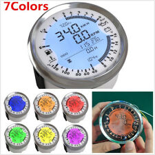 85mm 6in1 LED Backlight GPS Speedometer Tachometer Fuel Level Oil Pressure Meter