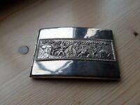LUXUS - Zigarettenetui aus Silber 125 Gramm Superflaches Design