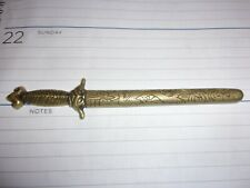 Antique Chinese sword form dragon letter opener