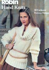 Knitting PATTERNS 32 Womens Sweaters Coats Dresses Jackets Aran