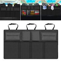 Schwarz Auto Kofferraum Rücksitz Aufbewahrung Tasche Organizer mit Netz Car Bag