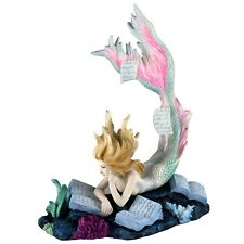"Mermaid Reading Figurine Lost Books by Tiffany Toland-Scott 7.25"" High New!"