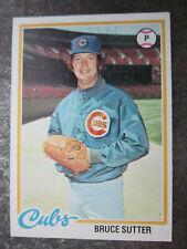 Bruce Sutter #325 Topps 1978 Baseball Trading Card (L1T)