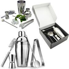 5 tlg Cocktail Shaker Set Bar Mixer Zubehör Edelstahl Messbecher Geschenkset