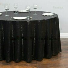 Round Sequin Tablecloths Table Cloth Cover Wedding Event Party Tableware NR9
