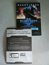 Starcraft II Wings of Liberty Guest Passes with original art!! (Collector items)