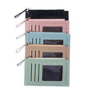 Coin Bag Multi-card Bit Zipper Pocket Wallet Card Holder Purse PU Leather