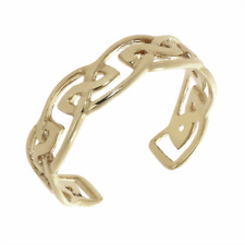 Lovely Genuine Hallmarked 375 9ct Gold Ladies Celtic Knot Adjustable Toe Ring