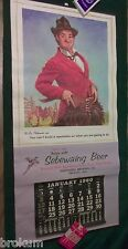 "Sebewaing Brewing Co Michigan 1960 ""Gay Philosopher"" Beer Advertising Calendar"